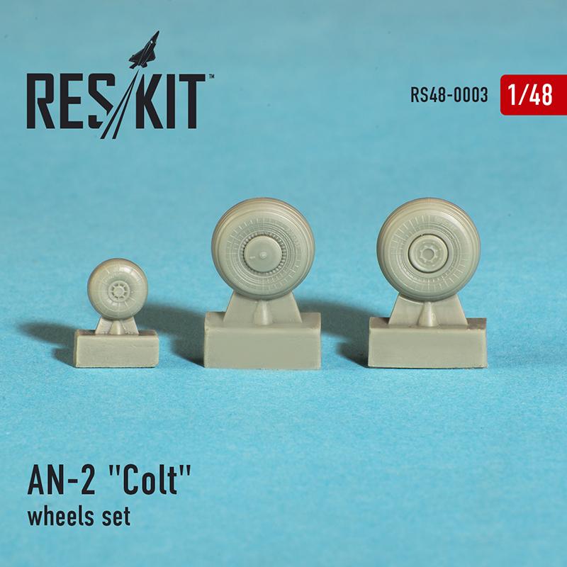 """AN-2 """"Colt"""" смоляные колеса (1/48)"""