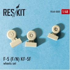 F-5 (F/N) KF-5F смоляные колеса (1/48)