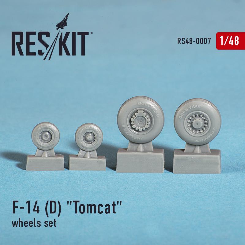 """F-14 (D) """"Tomcat"""" смоляные колеса (1/48)"""