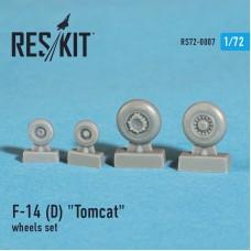 """F-14 (D) """"Tomcat"""" смоляные колеса (1/72)"""