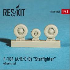 """F-104 (A/B/C/D) """"Starfighter"""" смоляные колеса (1/48)"""