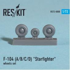 """F-104 (A/B/C/D) """"Starfighter"""" смоляные колеса (1/72)"""