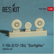"F-104 (E) CF-104 ""Starfighter"" смоляные колеса (1/48)"