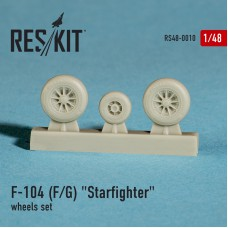 """F-104 (F/G) """"Starfighter"""" смоляные колеса (1/48)"""