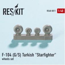 """F-104 (G/S) Turkish """"Starfighter"""" смоляные колеса (1/48)"""