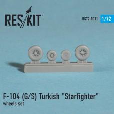 """F-104 (G/S) Turkish """"Starfighter"""" смоляные колеса  (1/72)"""