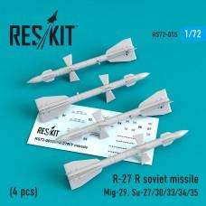 R-27 (R/T) авиационная ракета (4 штуки) (1/72)