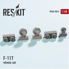 F-117 смоляные колеса (1/48)