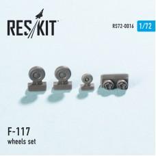 F-117 смоляные колеса (1/72)
