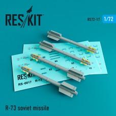 R-73 авиационная ракета (4 штуки) (1/72)