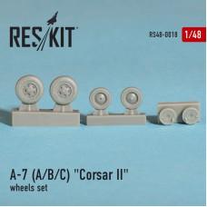 """A-7 """"Corsair II"""" (A/B/C/E) смоляные колеса (1/48)"""