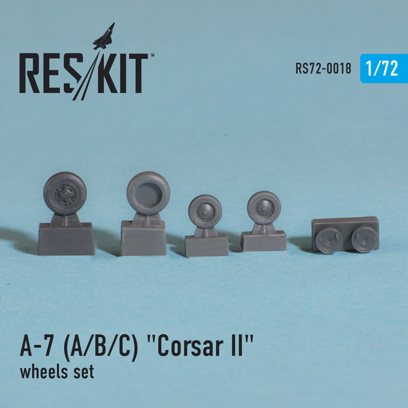 """A-7 """"Corsair II"""" (A/B/C/E) смоляные колеса (1/72)"""