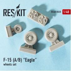 """F-15 (A/B) """"Eagle"""" смоляные колеса (1/48)"""