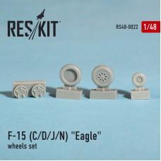 """F-15 (C/D/J/N) """"Eagle"""" смоляные колеса (1/48)"""