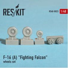 """F-16 (A) """"Fighting Falcon"""" смоляные колеса (1/48)"""