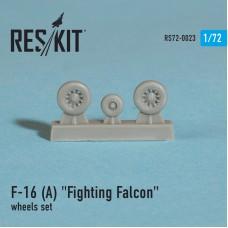 """F-16 (A) """"Fighting Falcon"""" смоляные колеса (1/72)"""