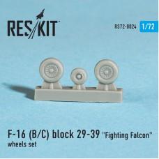 "F-16 (B/C) block 29-39 ""Fighting Falcon"" смоляные колеса (1/72)"