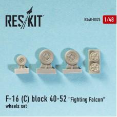 "F-16 (C) block 40-52 ""Fighting Falcon"" смоляные колеса (1/48)"