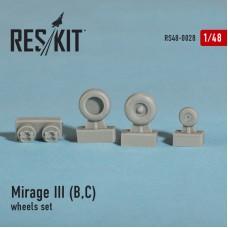 Mirage III (B,C) смоляные колеса (1/48)