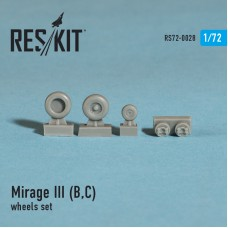 Mirage III (B,C) смоляные колеса (1/72)