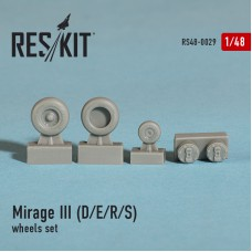 Mirage III (D/E/R/S) смоляные колеса (1/48)