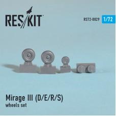 Mirage III (D/E/R/S) смоляные колеса (1/72)
