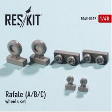 Rafale (A/B/C) смоляные колеса (1/48)
