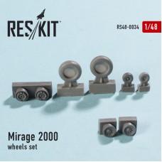 Mirage 2000 смоляные колеса (1/48)