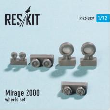 Mirage 2000 смоляные колеса (1/72)