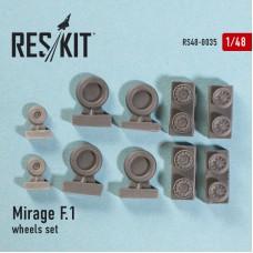 Mirage F.1 смоляные колеса (1/48)
