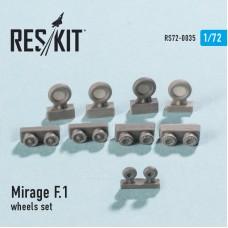 Mirage F.1 смоляные колеса (1/72)