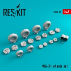 Mig-31 смоляные колеса (1/48)