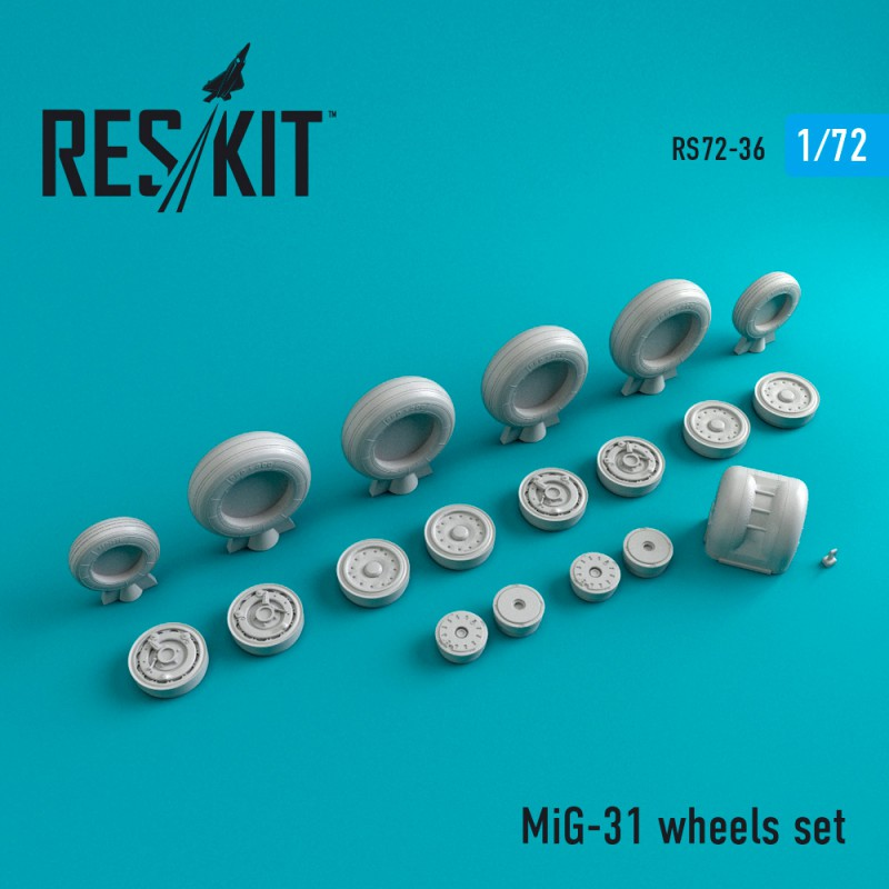 Mig-31 смоляные колеса (1/72)
