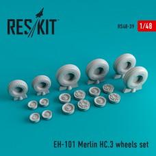 EH-101 Merlin HC.3 смоляные колеса 1/48