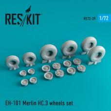 EH-101 Merlin HC.3 смоляные колеса 1/72