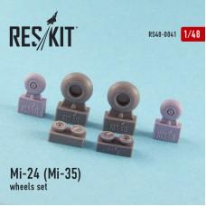 Mi-24 (Mi-35) смоляные колеса (1/48)