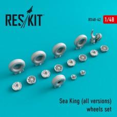 Sea King (all versions) смоляные колеса 1/48