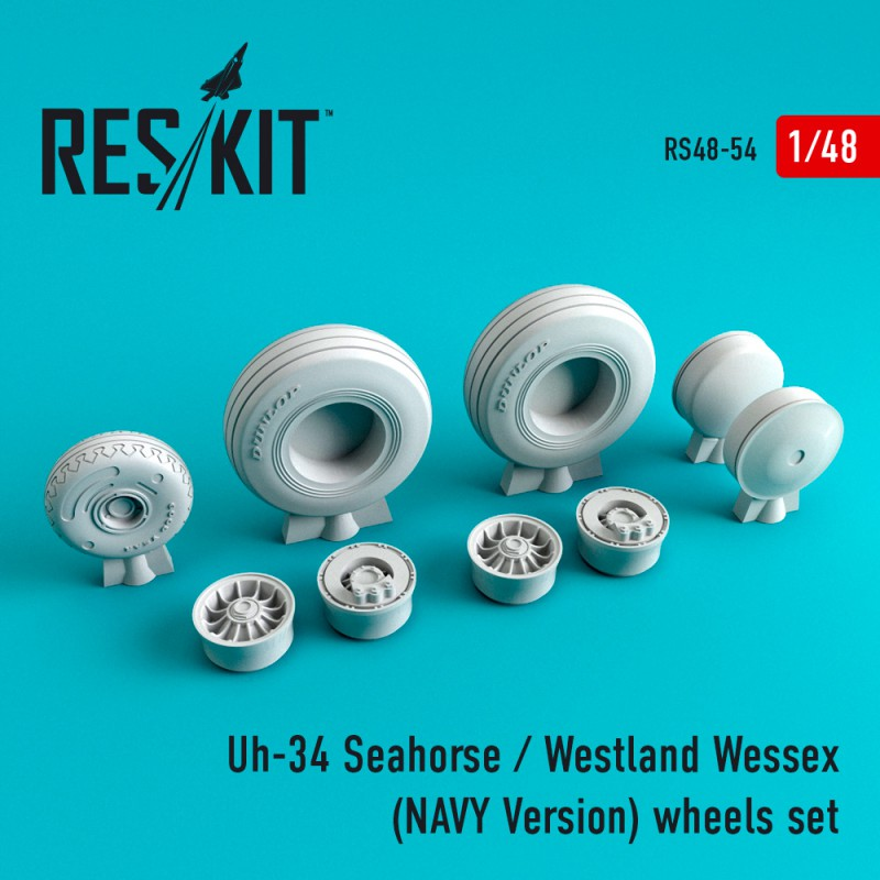 Uh-34 Seahorse / westland wessex (NAVY Version) смоляные колеса (1/48)