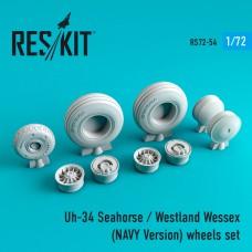 Uh-34 Seahorse / westland wessex (NAVY Version) смоляные колеса (1/72)