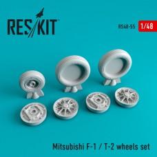 Mitsubishi F-1 / T-2 смоляные колеса (1/48)