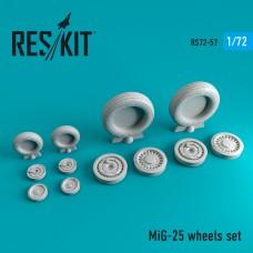 Mig-25 смоляные колеса (1/72)