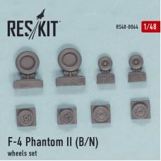 F-4 Phantom II (B, N), смоляные колеса (1/48)