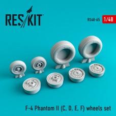 F-4 Phantom II (C, D, E, F) смоляные колеса (1/48)