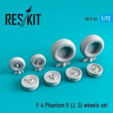 F-4 Phantom II (J, S) смоляные колеса  (1/72)