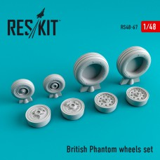 British Phantom смоляные колеса (1/48)