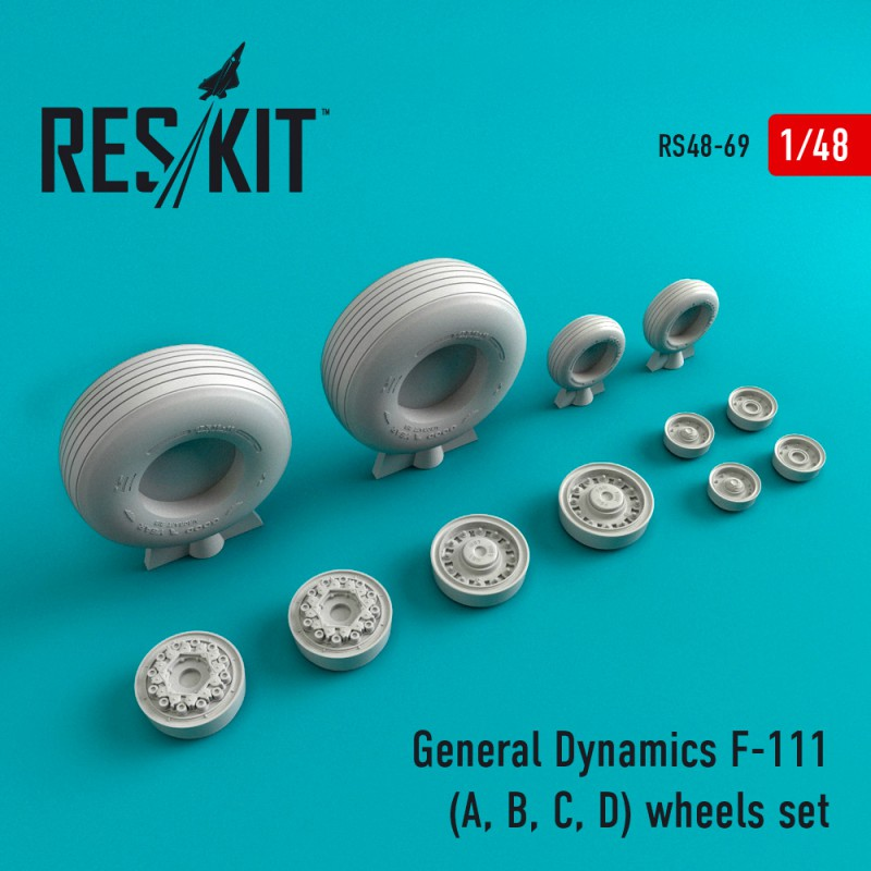 General Dynamics F-111 (A, B, C, D) смоляные колеса (1/48)