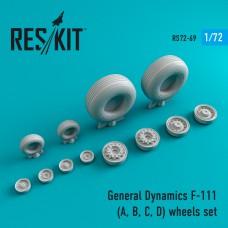 General Dynamics F-111 (A, B, C, D) смоляные колеса  (1/72)