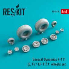 General Dynamics F-111 (E, F) / EF-111A смоляные колеса (1/48)