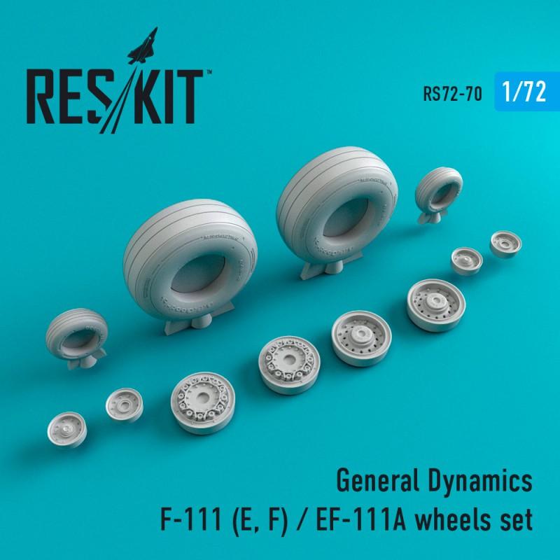 General Dynamics F-111 (E, F) / EF-111A смоляные колеса  (1/72)
