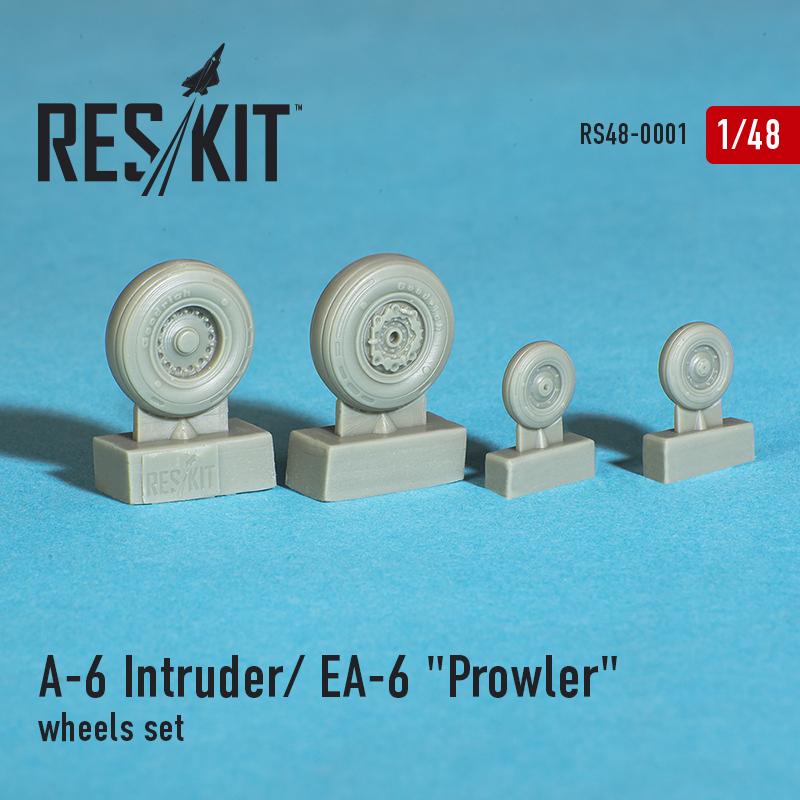 """A-6 Intruder / EA-6 """"Prowler"""" смоляные колеса (1/48)"""